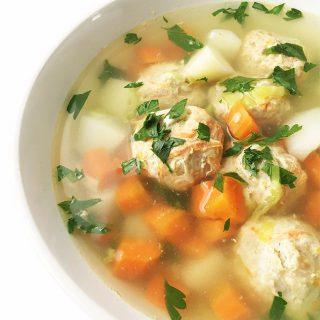 Turkey Meatball and Quinoa Soup