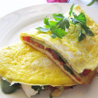 Easy Veggie Omelette