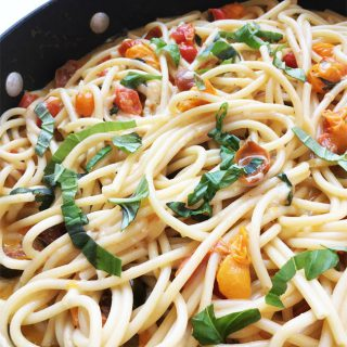 Pasta with Fresh Tomato Basil Sauce