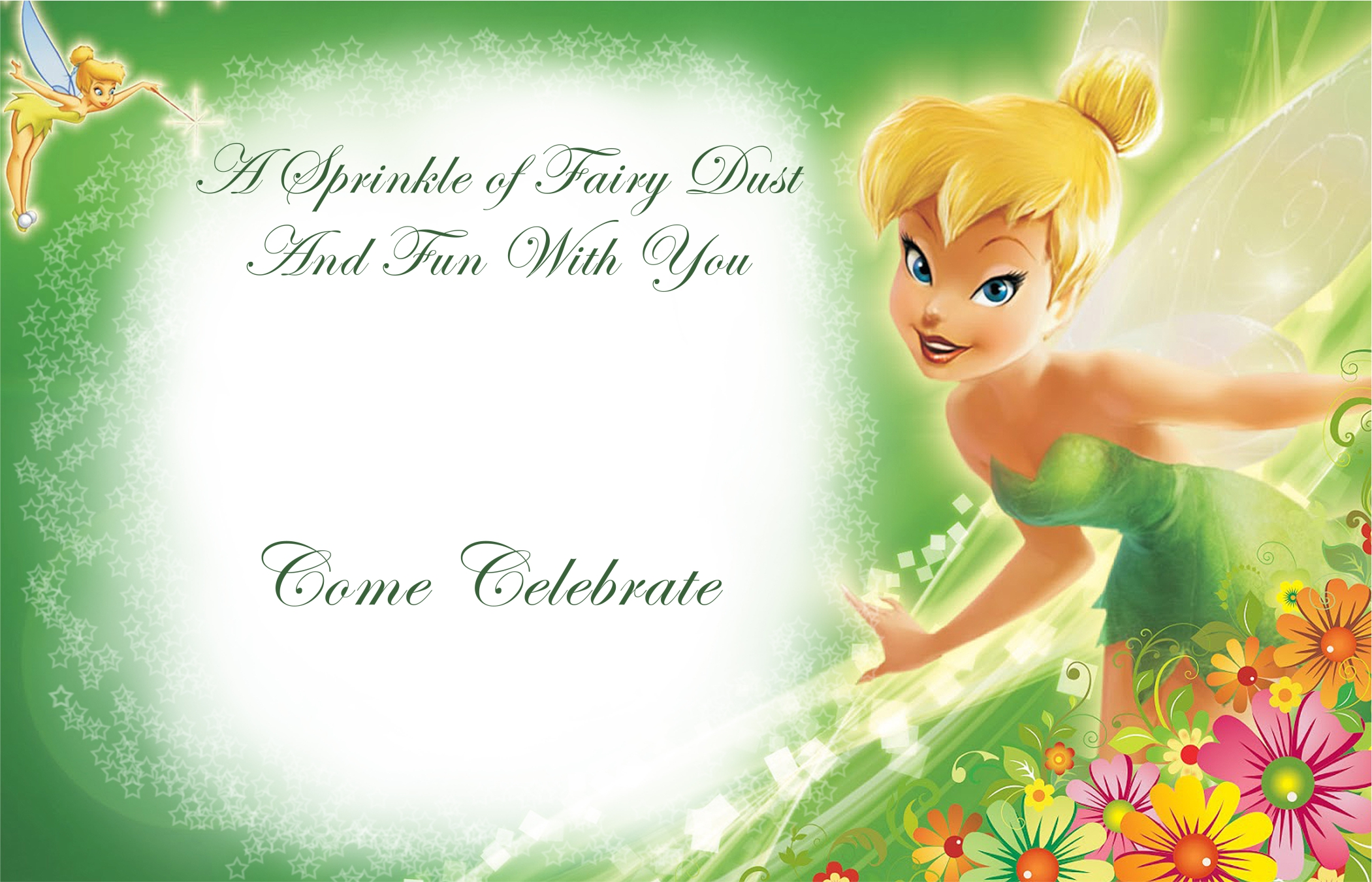 Tinkerbell Birthday Party Mias 2nd Birthday – Tinkerbell Birthday Card