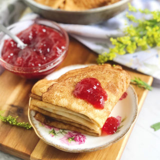 Russian Crepes Recipe (Buttermilk Blintzes)